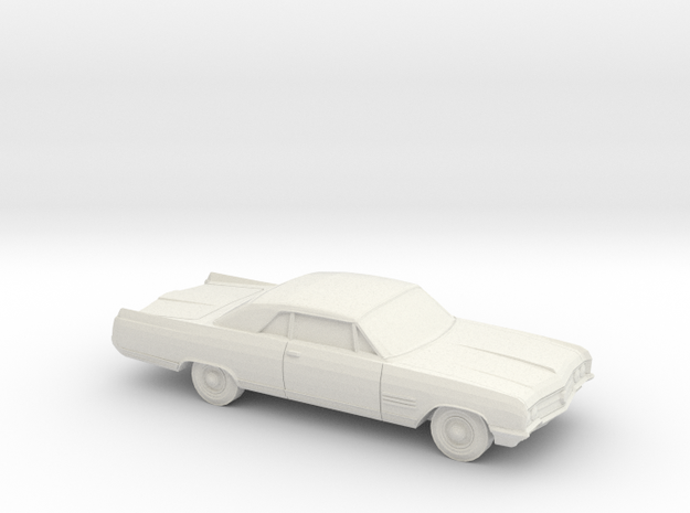 1/87 1964 Buick Wildcat Coupe in White Natural Versatile Plastic