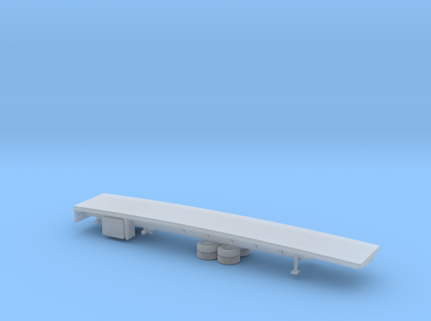 1/87 Spread  Flatbed Trailer in Smooth Fine Detail Plastic