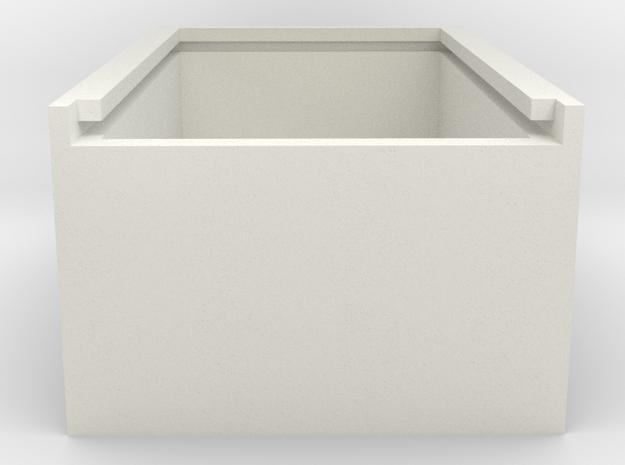 BOX-1A in White Natural Versatile Plastic