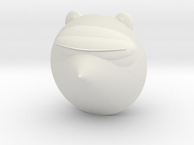 Laser Raccoon in White Natural Versatile Plastic: Medium