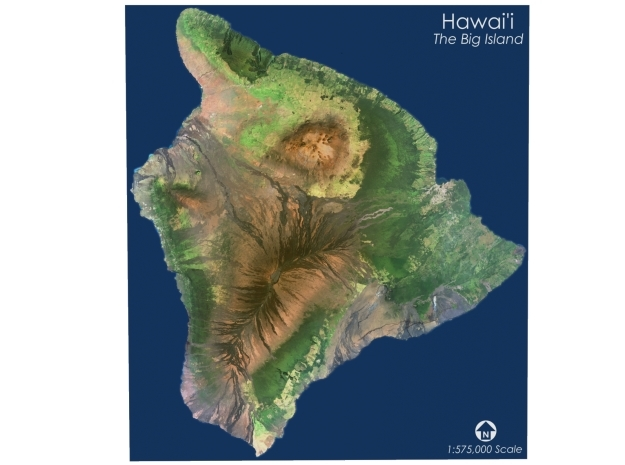 "Hawai'i, The Big Island: 9.25""x10.5"" in Coated Full Color Sandstone"