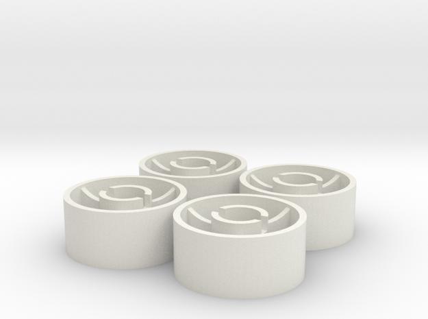 ass 4 jante avant D18,5 plat +0 shapeways in White Natural Versatile Plastic