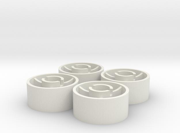 ass 4 jante avant D18,5 plat +0,5 in White Natural Versatile Plastic