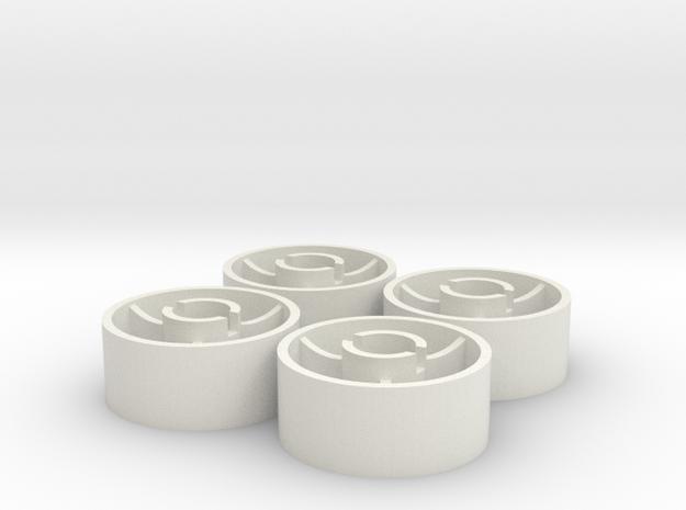 ass 4 jante avant D20 plat +0,5 in White Natural Versatile Plastic