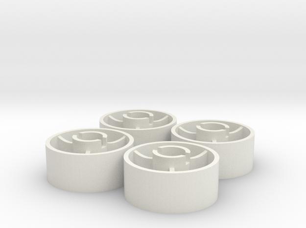ass 4 jante avant D20 plat +1 in White Natural Versatile Plastic