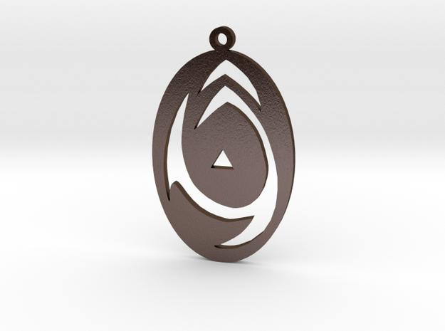 Sigil of Tzeentch cutout in Polished Bronze Steel