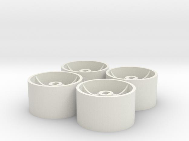 ass 4 jantes AR D20  GLA in White Natural Versatile Plastic
