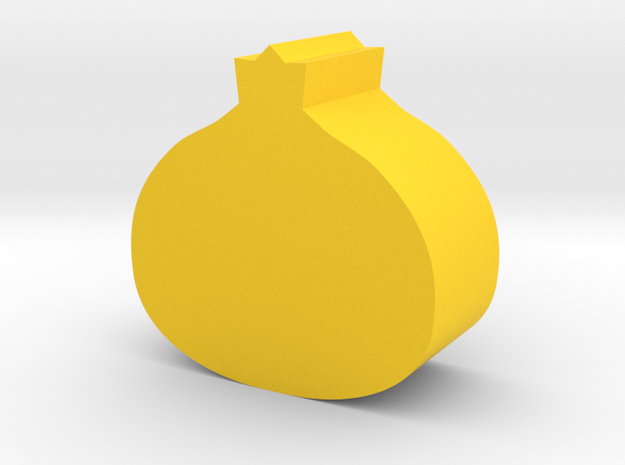 Onion Game Piece in Yellow Processed Versatile Plastic