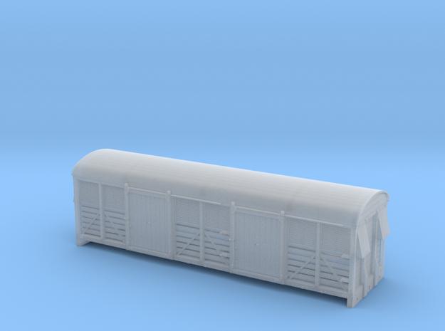 LMS 6 wheel milk van slatted sides complete N  gau in Smooth Fine Detail Plastic