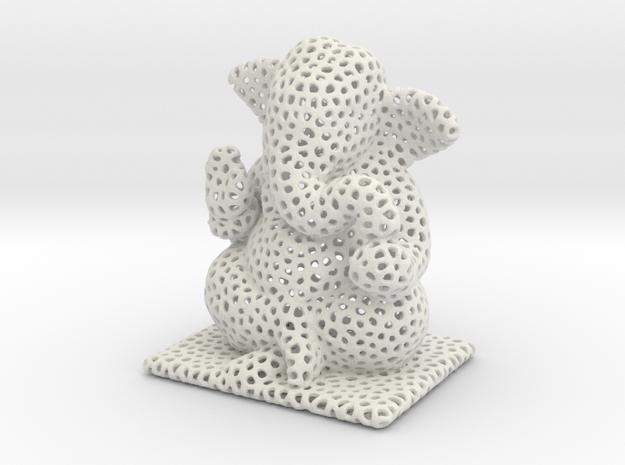 Ganesh Ji Veroni in White Natural Versatile Plastic
