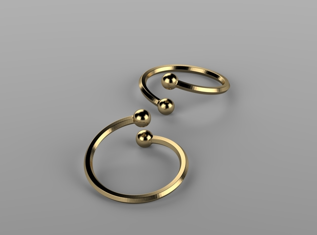 Spring ring in Natural Bronze