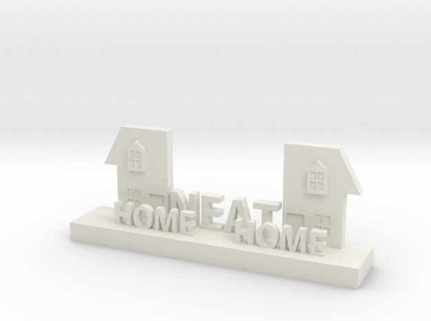 Home Neat Home Logo Figurine in White Natural Versatile Plastic
