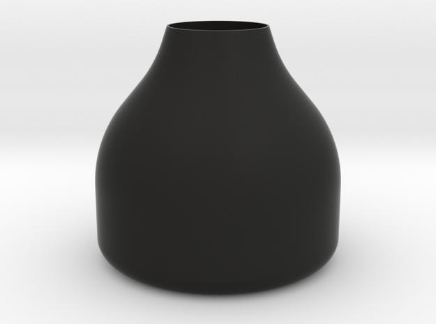 Small Round Stout Vase in Black Natural Versatile Plastic