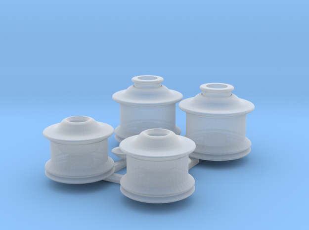 HO Bachmann early 4-4-0 sand and steam domes in Smoothest Fine Detail Plastic