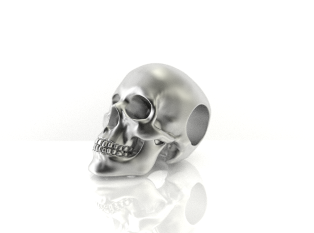 Human Skull Pendant in Stainless Steel
