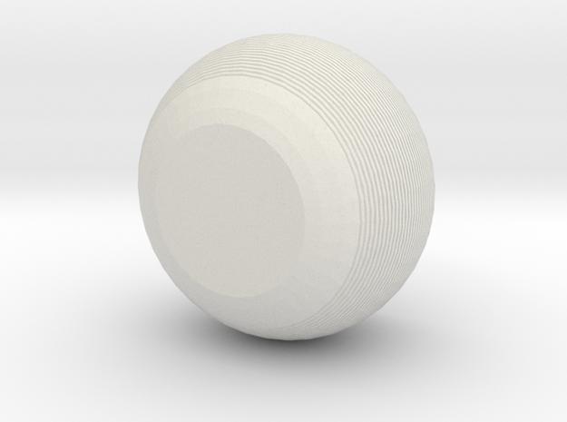 Horizontal line pots in White Natural Versatile Plastic