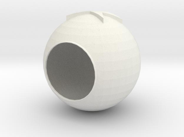 Campanula lamp cover in White Natural Versatile Plastic