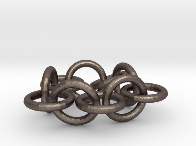Bracelets in Polished Bronzed Silver Steel