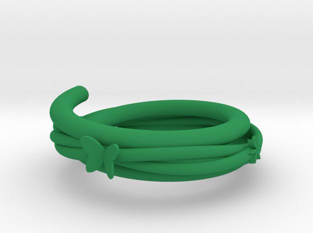 vine bracelet in Green Processed Versatile Plastic: Medium