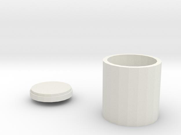 鉛筆盒 in White Strong & Flexible: Small