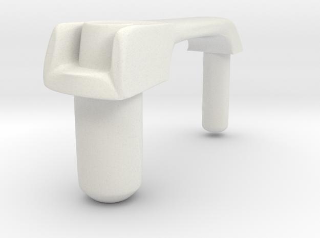 Tamiya Unimog doorhandle in White Natural Versatile Plastic