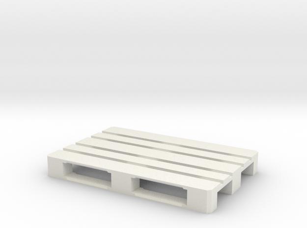 1/14 Scale EUR Pallet in White Natural Versatile Plastic