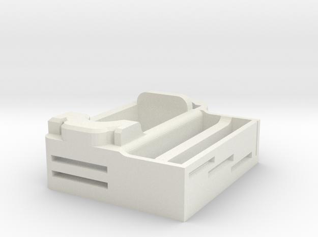 tissue paper holder1 in White Natural Versatile Plastic
