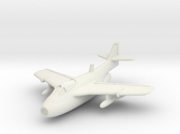 "Saab J 29F Tunnan ""Late version"" 1/200 in White Natural Versatile Plastic"