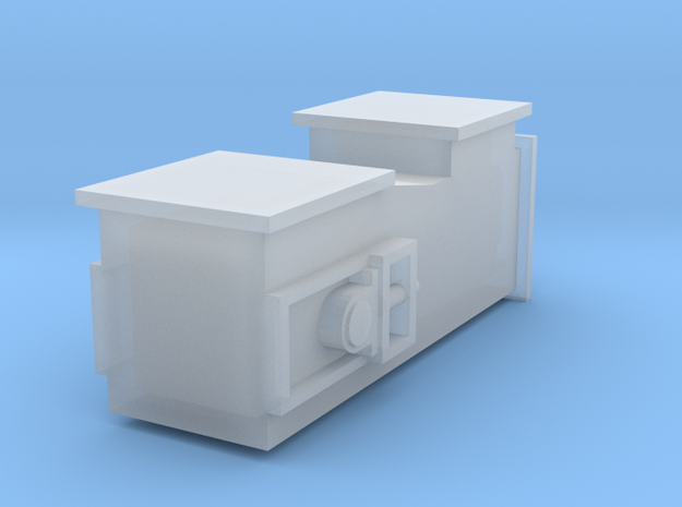 1/64 Drag Conveyor Tail Unit with Flat Inlet in Smooth Fine Detail Plastic