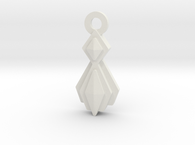 House of Mogh Charm in White Natural Versatile Plastic: Small