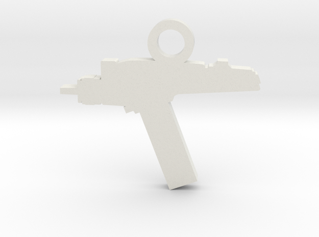 Phaser Silhouette Charm in White Natural Versatile Plastic