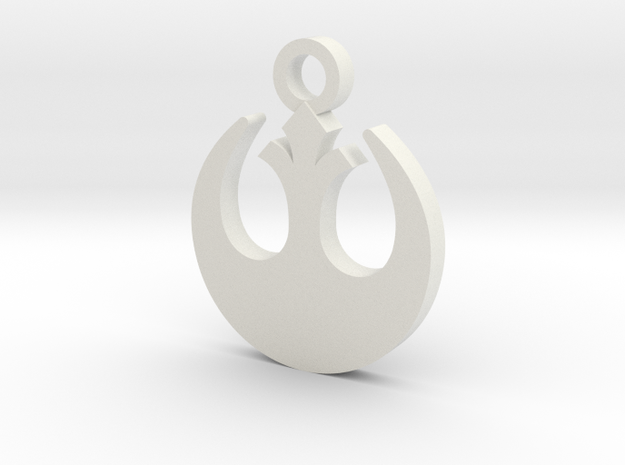 Rebel Forces Charm in White Natural Versatile Plastic