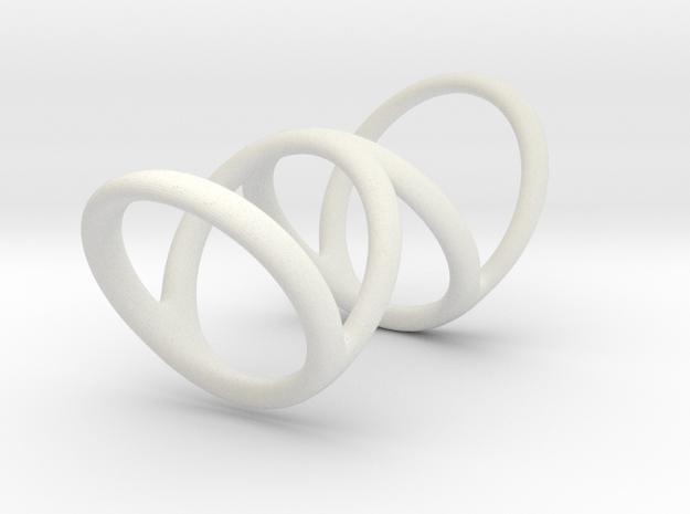 Left ring (camallama) in White Natural Versatile Plastic