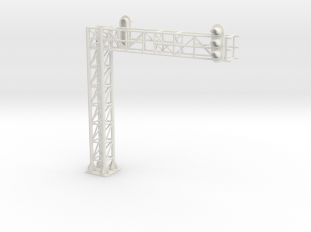two track block signal one way in White Natural Versatile Plastic