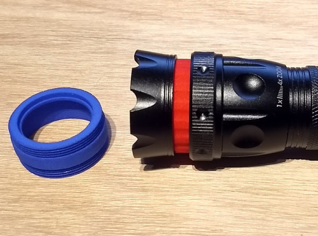 Coupler v2: Nebo REDLINE Tactical LED Flashlight in Red Processed Versatile Plastic