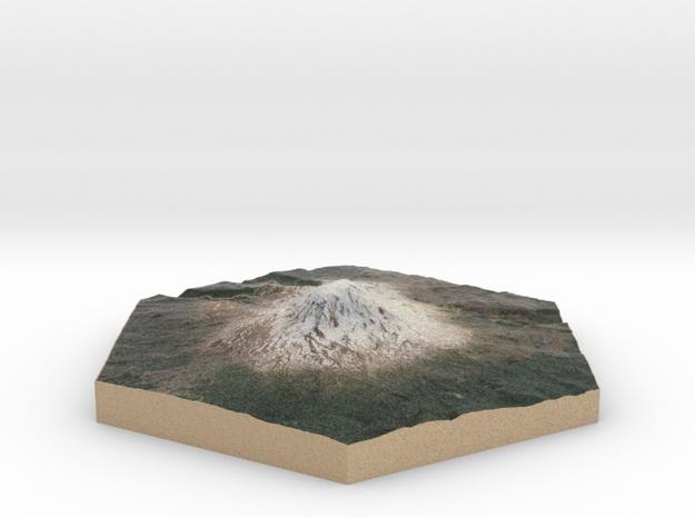 Model of Mt. Adams, WA (10cm, Full-Color) in Full Color Sandstone