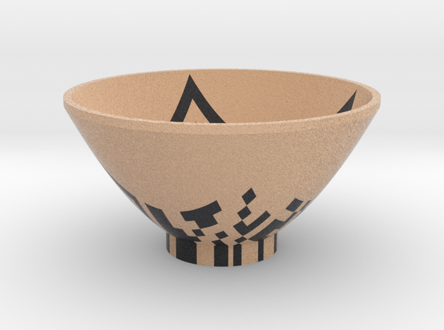 DRAW bowl - QR code in Full Color Sandstone