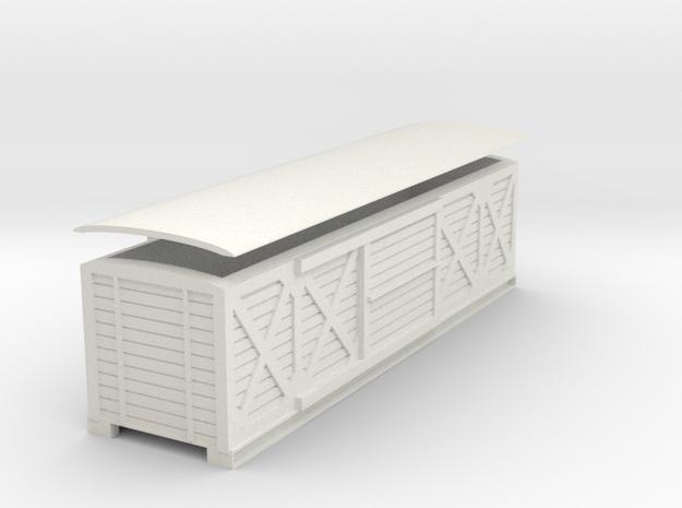L&B 009 Bogie Van  in White Natural Versatile Plastic