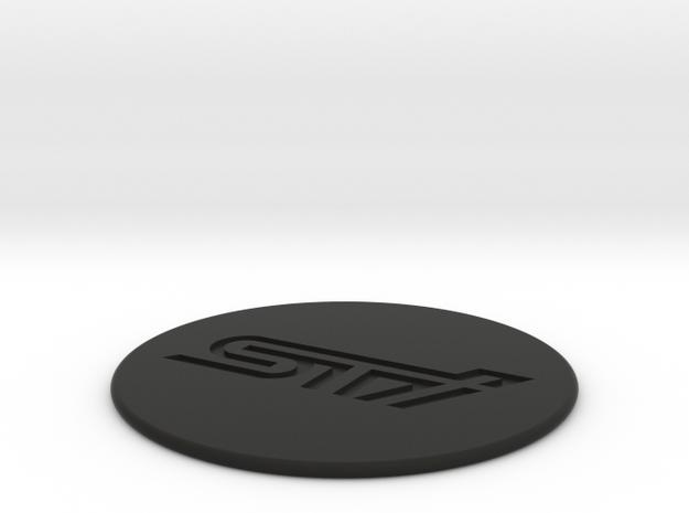 STI Coaster in Black Premium Versatile Plastic