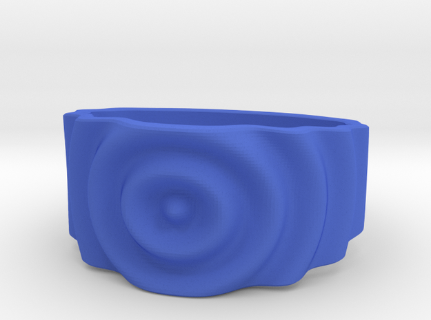 Ringpples Ring 1 in Blue Processed Versatile Plastic