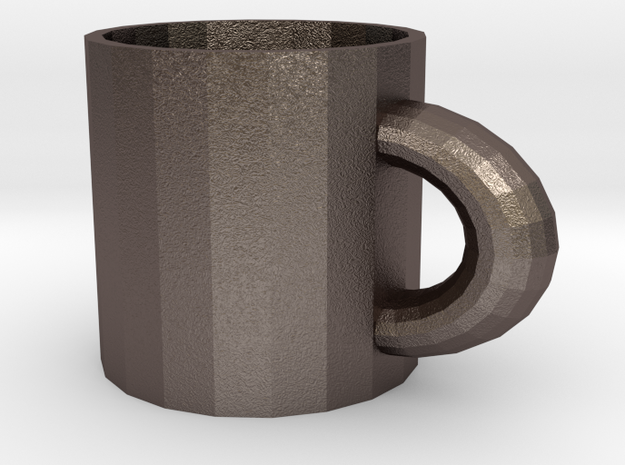 Mug in Polished Bronzed Silver Steel