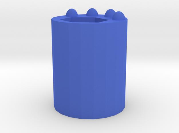 Cat Palm Pen Holder in Blue Processed Versatile Plastic: Small