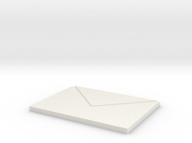 Envelope chopping board in White Natural Versatile Plastic