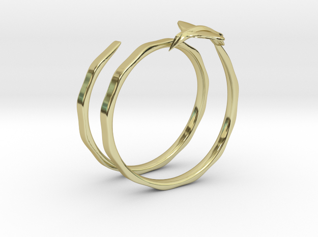 Traveler Ring in 18k Gold Plated Brass: 6.75 / 53.375
