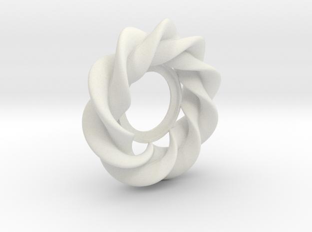 Supertorus-27mm in White Natural Versatile Plastic