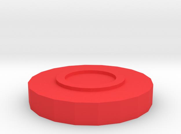 taxture coaster in Red Processed Versatile Plastic