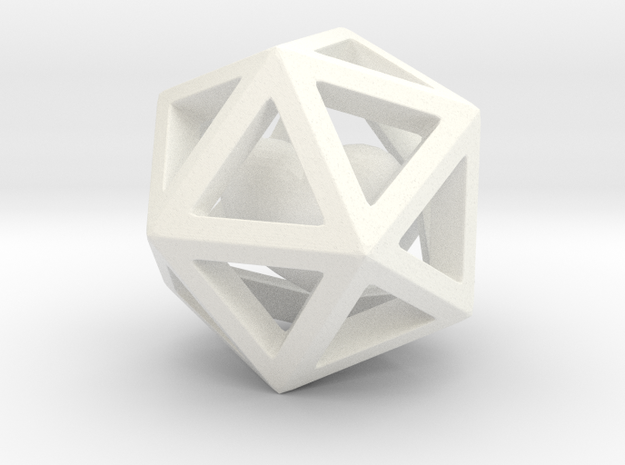 Polyhedron with interlocked heart