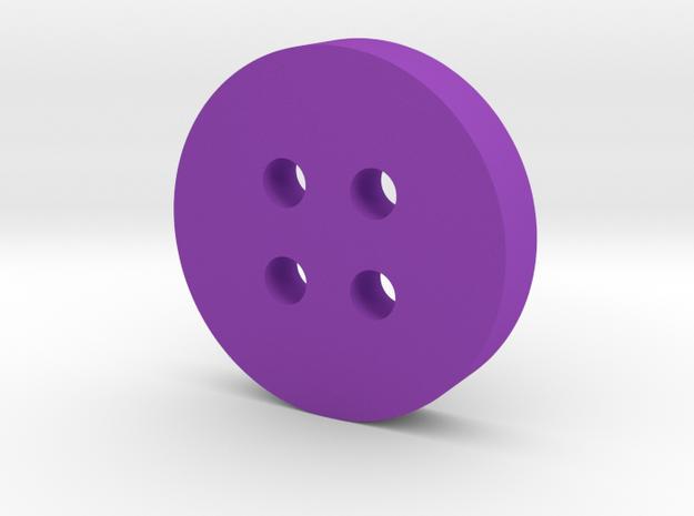 Round Angled Button in Purple Processed Versatile Plastic