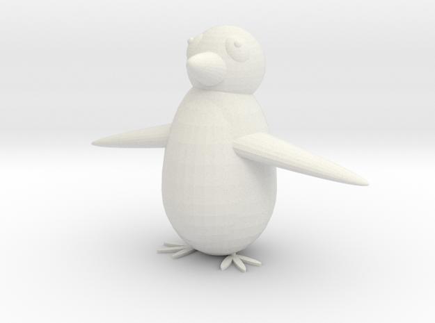 penguin in White Natural Versatile Plastic