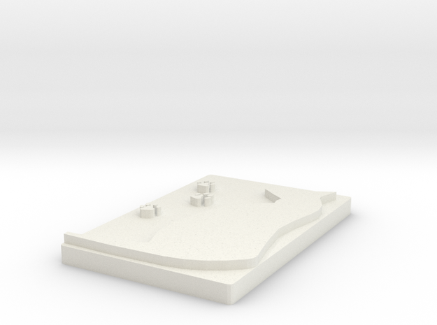 Cats footprints in White Natural Versatile Plastic